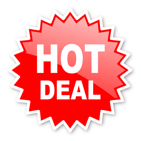 best ad: hot deal red tag, sticker, label, star, stamp, banner, advertising, badge, emblem, web icon