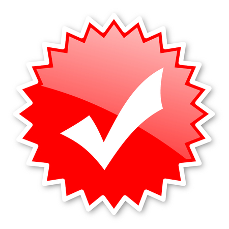 answer approve of: accept red tag, sticker, label, star, stamp, banner, advertising, badge, emblem, web icon
