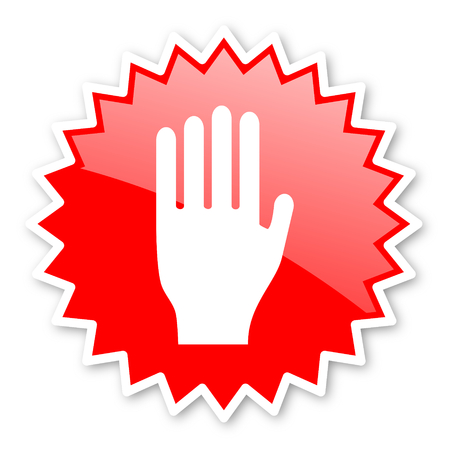 the coachman: stop red tag, sticker, label, star, stamp, banner, advertising, badge, emblem, web icon