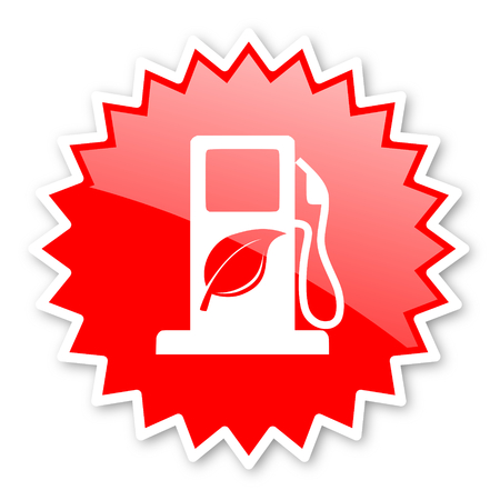 canola: biofuel red tag, sticker, label, star, stamp, banner, advertising, badge, emblem, web icon Stock Photo