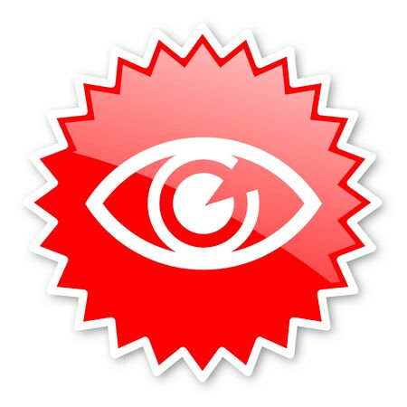 eye red: eye red tag, sticker, label, star, stamp, banner, advertising, badge, emblem, web icon