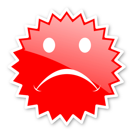 validate: cry red tag, sticker, label, star, stamp, banner, advertising, badge, emblem, web icon Stock Photo