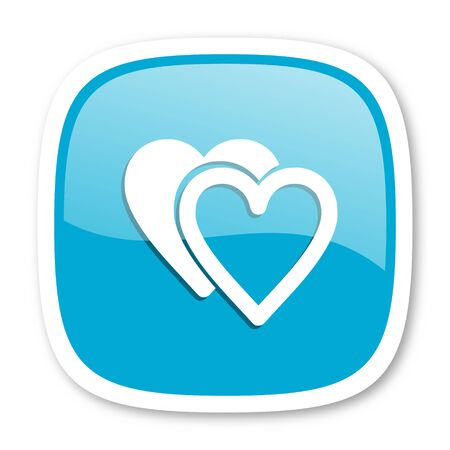 internet dating: love blue glossy icon Stock Photo