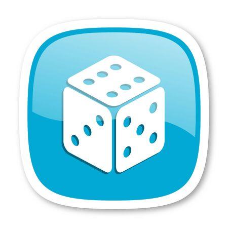 picto: game blue glossy icon Stock Photo