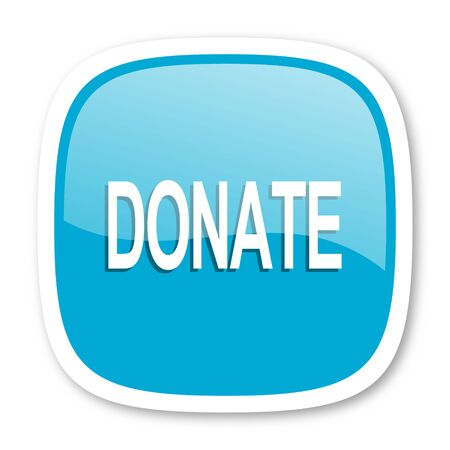 aiding: donate blue glossy icon
