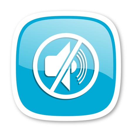 mute: mute blue glossy icon