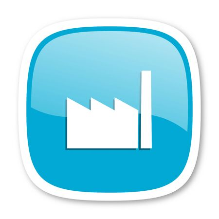 industrialist: factory blue glossy icon