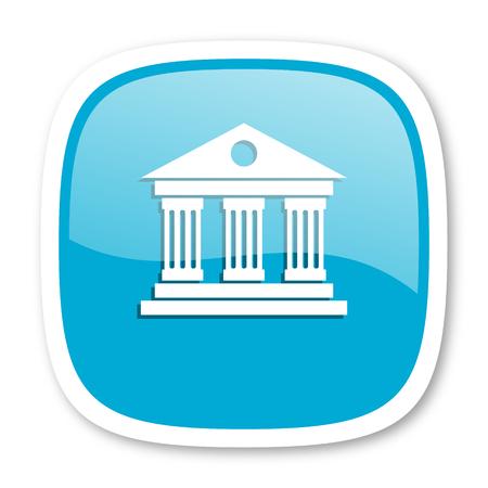 acropolis: museum blue glossy icon Stock Photo