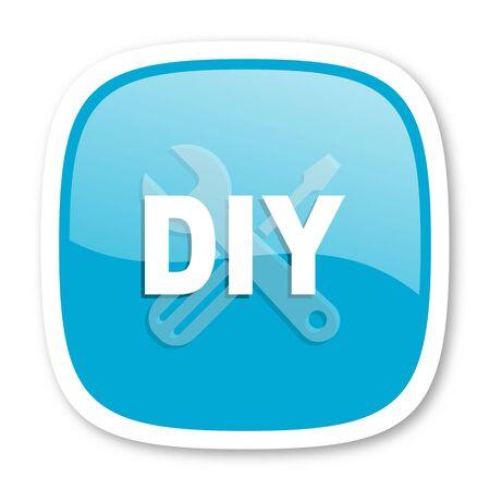 diy: diy blue glossy icon