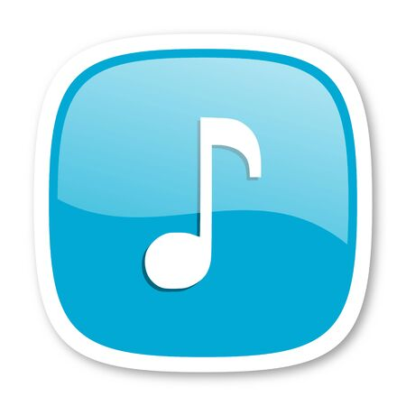 melodic: music blue glossy icon Stock Photo
