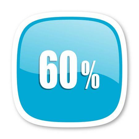 60: 60 percent blue glossy icon