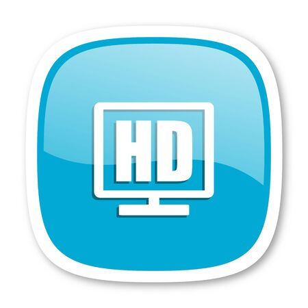 display: hd display blue glossy icon
