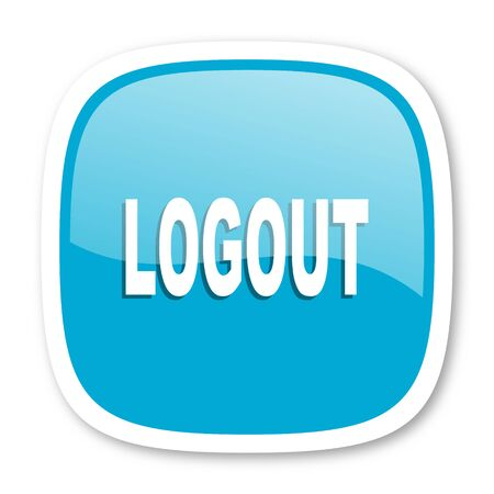 Log Out: logout blue glossy icon