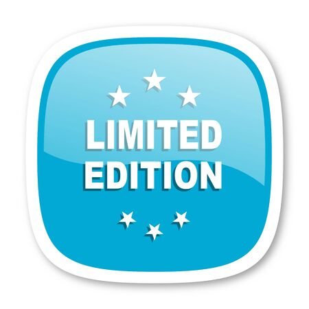 limited edition: limited edition blue glossy icon