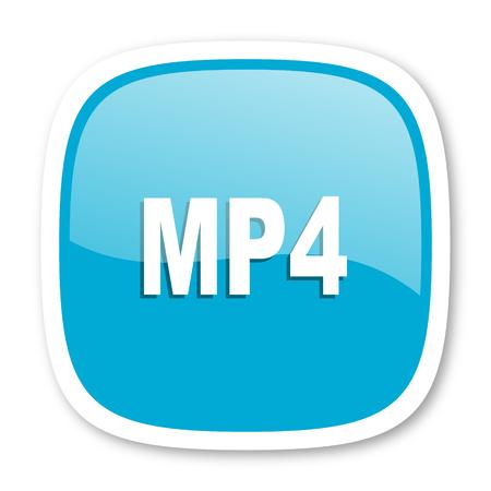 mp4: mp4 blue glossy icon