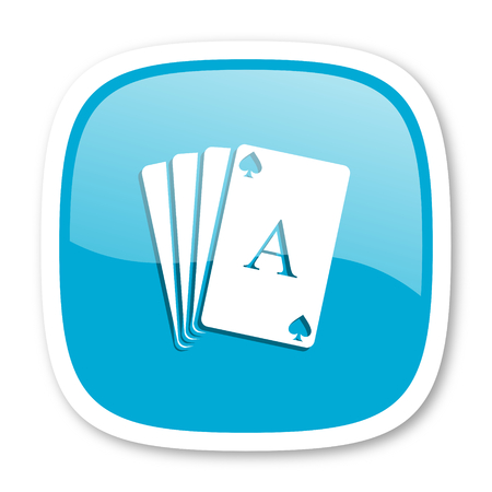 picto: card blue glossy icon