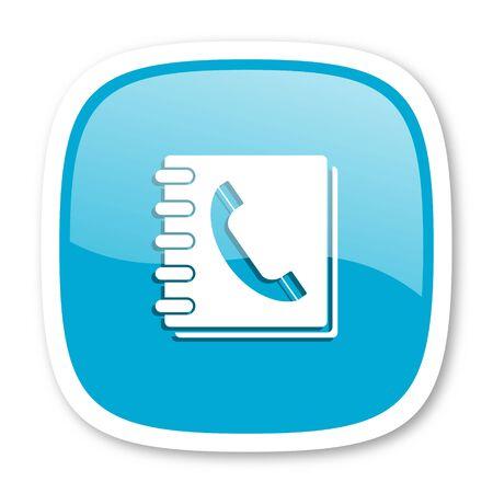 phonebook: phonebook blue glossy icon