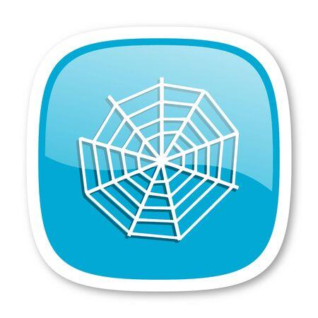 spider web: spider modern web blue glossy icon
