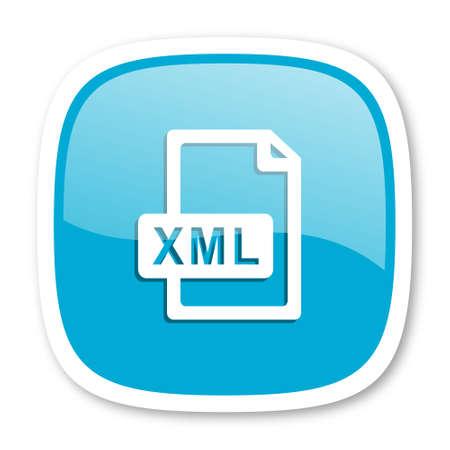 xml: xml file blue glossy icon
