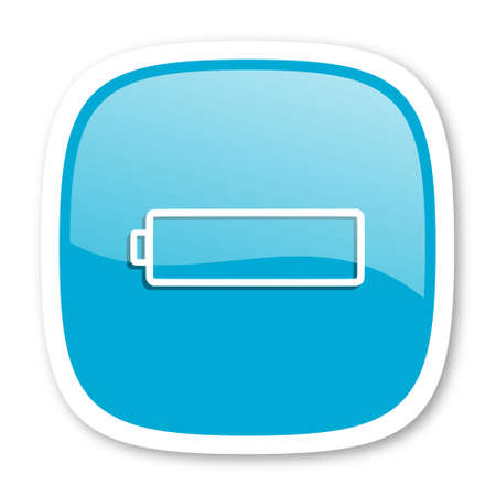 glossy icon: battery blue glossy icon