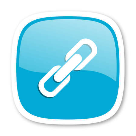cohesion: link blue glossy icon