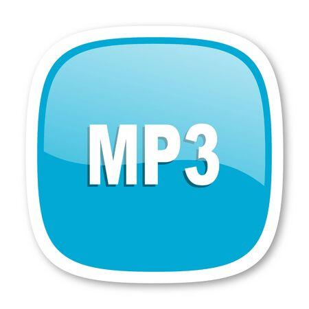 mp3: mp3 blue glossy icon
