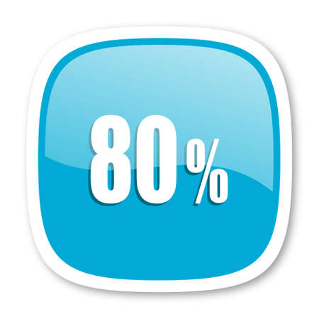 80: 80 percent blue glossy icon