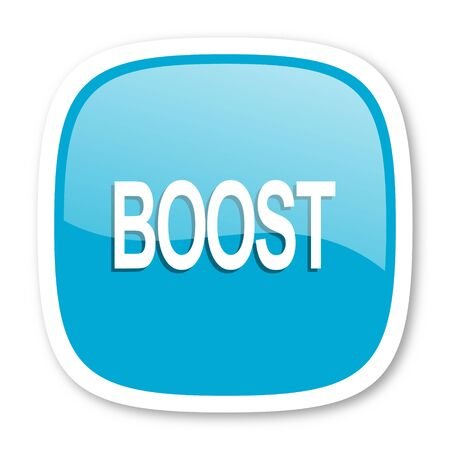 boost: boost blue glossy icon