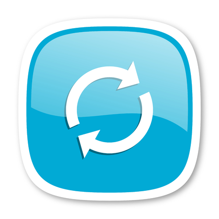 reload: reload blue glossy icon Stock Photo