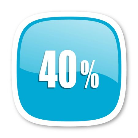 40: 40 percent blue glossy icon