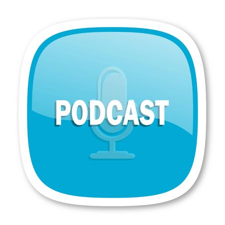 podcast: podcast blue glossy icon