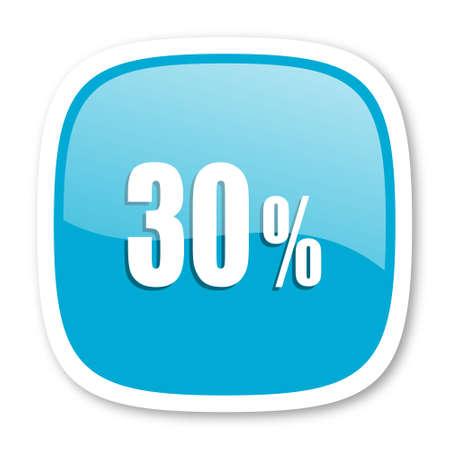 30: 30 percent blue glossy icon