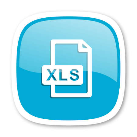 bibliography: xls file blue glossy icon