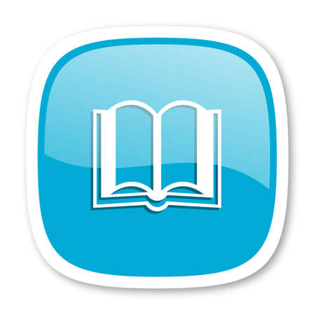 guestbook: book blue glossy icon