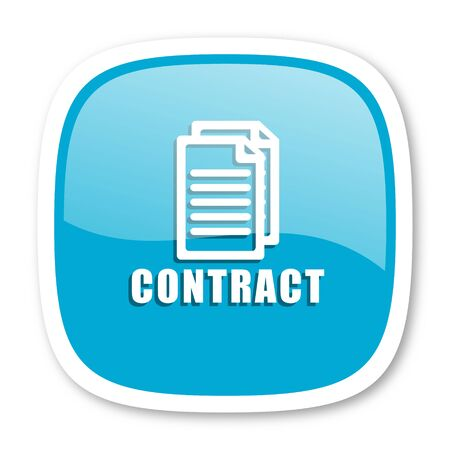 key signature: contract blue glossy icon