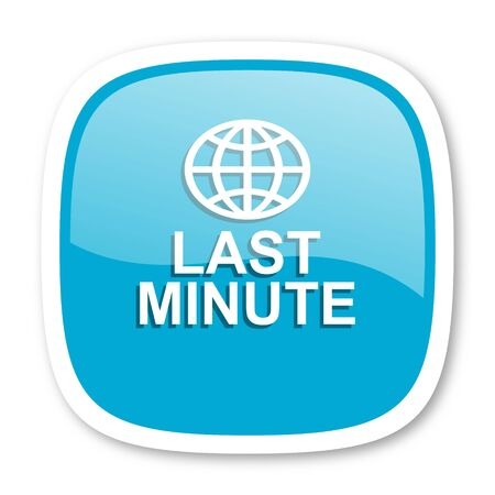 minute: last minute blue glossy icon