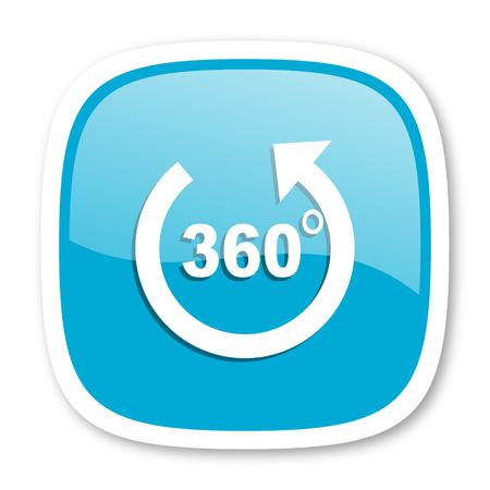 panorama: panorama blue glossy icon