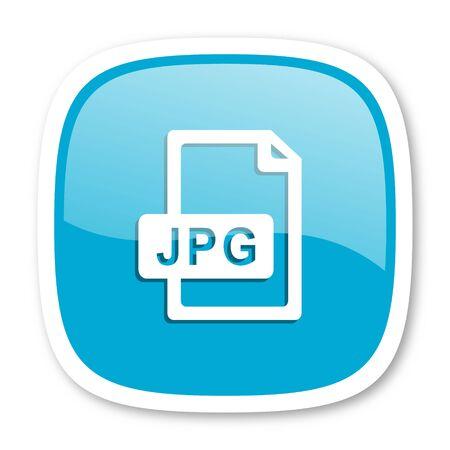 jpg: jpg file blue glossy icon