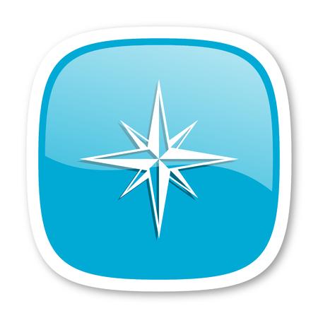 internet explorer: compass blue glossy icon Stock Photo