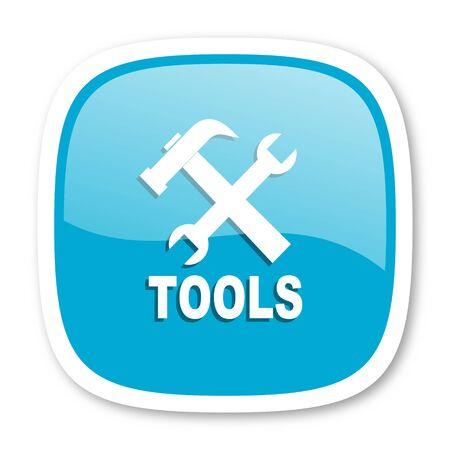 option key: tool blue glossy icon