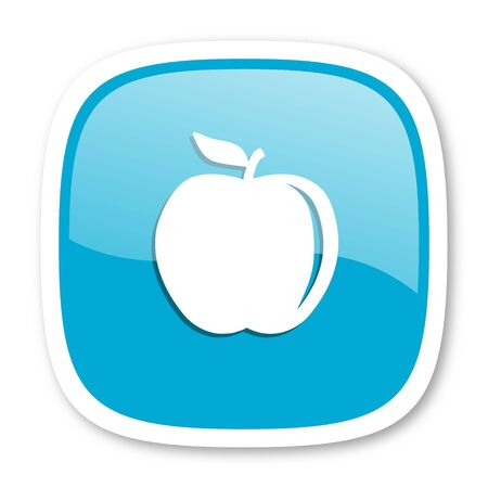 glossy icon: apple blue glossy icon