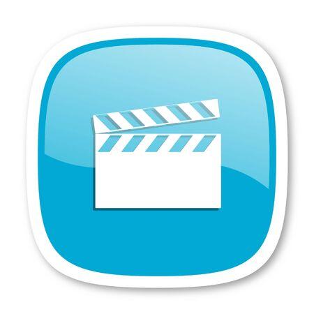 cinematograph: video blue glossy icon