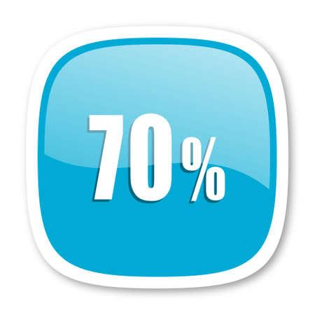 70: 70 percent blue glossy icon