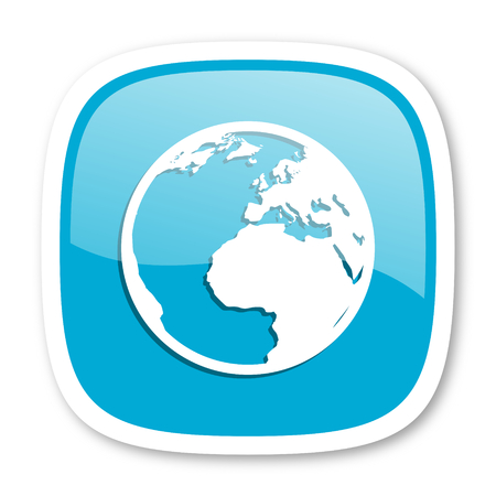 parallels: earth blue glossy icon