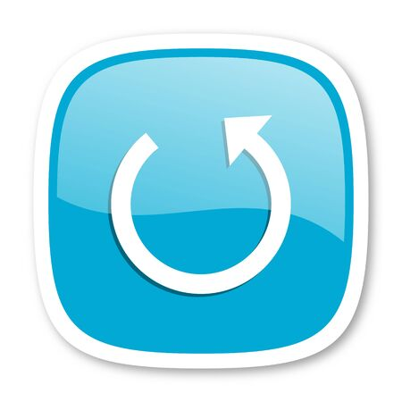 rotate icon: rotate blue glossy icon