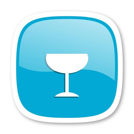 champain: alcohol  blue glossy icon