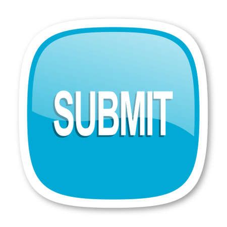submission: submit blue glossy icon