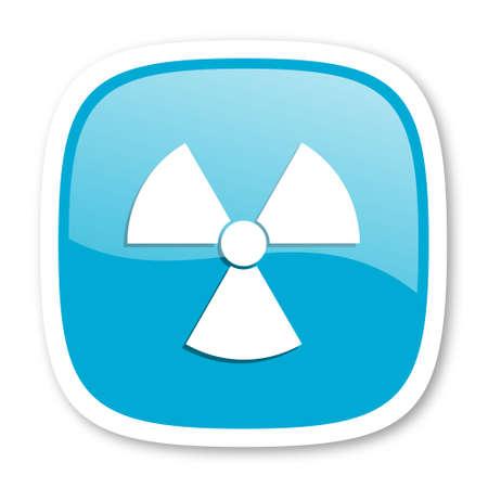 radiacion: la radiación icono azul brillante Foto de archivo
