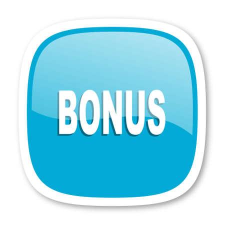 bonus: bonus blue glossy icon