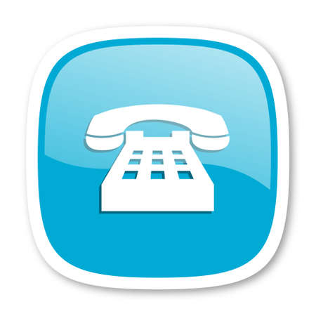 phone: phone blue glossy icon Stock Photo